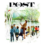 """Distracted Hikers "" Saturday Evening Post Cover  March 24  1962"