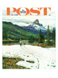 """Spring Warms the Mountains "" Saturday Evening Post Cover  May 5  1962"