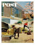 &quot;Rock Garden &quot; Saturday Evening Post Cover  April 22  1961