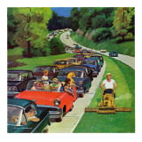 """Speeder on the Median "" June 2  1962"