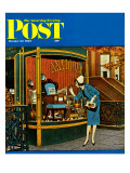 """Antique TV "" Saturday Evening Post Cover  October 27  1962"