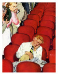 """Man Asleep in Theater "" July 27  1940"