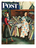 """Fabric Store "" Saturday Evening Post Cover  May 22  1948"