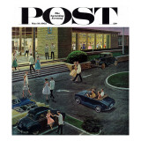 &quot;Prom Dates in Parking Lot &quot; Saturday Evening Post Cover  May 19  1962