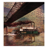 """Paddlewheeler on Ohio River "" September 21  1946"