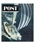 """America's Cup "" Saturday Evening Post Cover  August 22  1964"