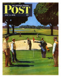 """Sand Trap "" Saturday Evening Post Cover  July 3  1948"