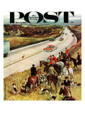 &quot;Foxhunters Outfoxed &quot; Saturday Evening Post Cover  December 2  1961