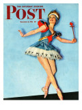 """Ballet Comes to Main Street "" Saturday Evening Post Cover  November 21  1942"