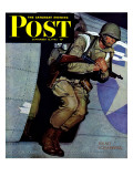 """Paratrooper "" Saturday Evening Post Cover  September 12  1942"