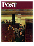 """Lost Shoe "" Saturday Evening Post Cover  December 14  1946"