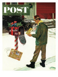 """Merry Christmas from the IRS "" Saturday Evening Post Cover  December 17  1960"