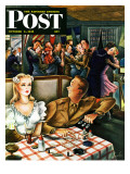 """War Stories "" Saturday Evening Post Cover  October 6  1945"