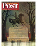 &quot;Statue of Washington on His Horse &quot; Saturday Evening Post Cover  February 22  1947
