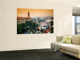 View of the Cesky Krumlov Castle Seen Across the Town  Cesky Krumlov  Czech Republic