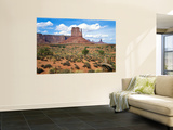 Mitten and Buttes at Mid-Day Navajo Tribal Park  Monument Valley  Arizona  USA