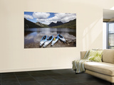 Kayaks  Cradle Mountain and Dove Lake  Lake St Clair National Park  Western Tasmania  Australia