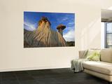 Badlands Formations at Makoshika State Park in Glendive  Montana  USA