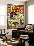 Marvel Comics Retro: My Love Comic Book Cover 18  Kissing  Love on the Rebound (aged)
