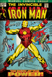 Marvel Comics Retro: The Invincible Iron Man Comic Book Cover 47  Breaking Through Chains (aged)