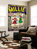Marvel Comics Retro: Millie the Model Comic Book Cover 100  How Millie First Met Chili! (aged)