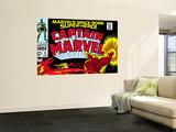 Captain Marvel No2 Cover: Super Skrull and Captain Marvel Swinging