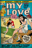 Marvel Comics Retro: My Love Comic Book Cover 16  Tennis  Pathos and Passion (aged)