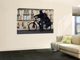 Cyclist in Central Edinburgh