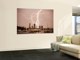 Lightning Storm over Perth Skyline from Matilda Bay