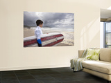 Young Surfer at Meron Beach