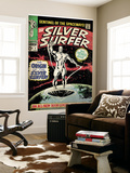 Marvel Comics Retro: Silver Surfer Comic Book Cover No1  Origin (aged)