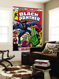 Black Panther No4 Cover: Black Panther  Princess Zanda  Little and Abner Fighting