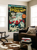 Marvel Comics Retro: The Amazing Spider-Man Comic Book Cover No151  Flooding (aged)