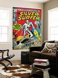 Marvel Comics Retro: Silver Surfer Comic Book Cover No17 (aged)