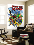 Giant-Size X-Men No3 Cover: Wolverine  Cyclops  Nightcrawler and Sunfire Charging