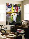 Bull Decorated for Pongal Festival  Mahabalipuram  Tamil Nadu  India