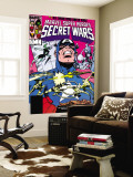 Secret Wars No7 Cover: Captain America  Spider Woman  Doctor Octopus and Wolverine
