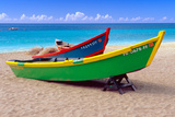 Brightly Painetd Boats  Puerto Rico