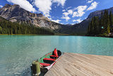 Boat at a Pier  Emerald Lake  Canada