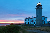 Beavertail Lighthouse Sunset  Rhode Island