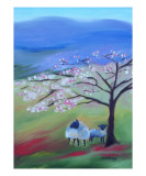 Sheep and Cherry Tree