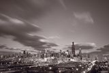 Chicago At Dusk BW