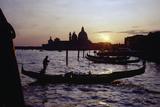 Sunset with Gondolas  Venice  Italy