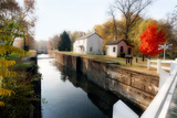 Canal Lock Fall Scene  Kingston  New Jersey