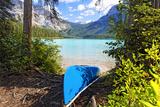 Boat on the Shore  Emerald Lake  Canada