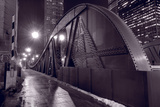 Steel Bridge Chicago BW
