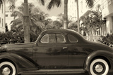 Old Car on Ocean Boulevard  Miami Beach  Florida