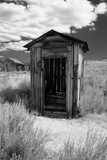 Outhouse in Ghost Town  Bodie  California