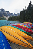 Canoes on a Dock  Moraine Lake  Canada