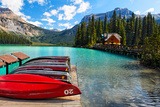 Boats on the Dock  Emerald Lake  Canada